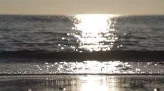 Closeup Shot Of Beach Surf In Slow Motion Stock Footage