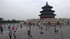 People visit the Temple of Heaven park in Beijing, China Stock Footage