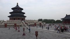 People visit the Temple of Heaven in Beijing Stock Footage