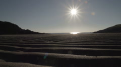 Tidal Sand Waves On Rhosneigr Beach Stock Footage