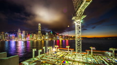 4k. One of many construction sites in HongKong. Timelapse. - stock footage