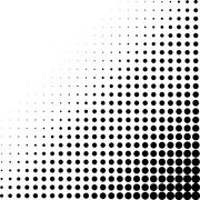Halftone dots corner Stock Illustration