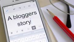 A bloggers story. Stock Footage