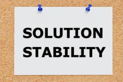 Solution Stability concept Stock Illustration