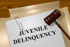 Juvenile Delinquency concept Stock Illustration