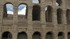 Stock Video Footage of Tilt view of Colosseum  amphitheatre in Rome