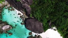 Similan Islands With Mountainous Rocks Stock Footage