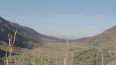 Undisturbed Pretty Welsh Valley - stock footage