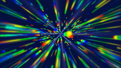 Colorful Rainbow Line Vortex Tunnel Effect HD Stock Footage