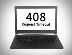 HTTP Status code - 408, Request Timeout - stock photo