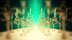 3D Candelabra Candlestick Holder Holiday Element HD Arkistovideo