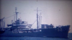 1956: USA Navy ship LCS-32 Independence Littoral combat ship. Stock Footage