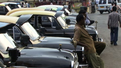 Port Blair South Andaman island India town centre busy street taxi cab Stock Footage
