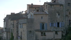 The old stone houses of the hilltop village of Tourrettes-sur-Loup Stock Footage