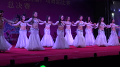 China entertainment, dance competition, belly dancing, seductive, sexy, Asian Stock Footage