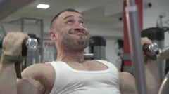 Demonstration of champion who doing deadlift in the gym - stock footage
