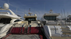 Coco, Georgiana and other yachts moored in the port of Saint-Tropez Stock Footage