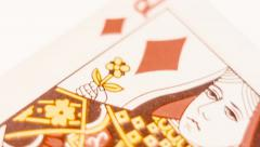 Playing Card - Queen Of Diamonds Stock Footage