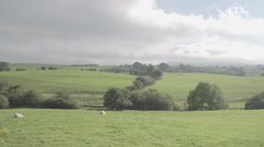 A shot of the beautiful Welsh countryside Stock Footage