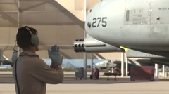 TUCSON USA, JANUARY 2016, US Air Force Soldier Delegates Aircraft Stock Footage