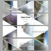 Modern vector banners. Abstract multicolored background of blurred nature - stock illustration