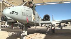 TUCSON USA, JANUARY 2016, US Air Force Pilot Exit A-10 Thunderbolt Cockpit - stock footage