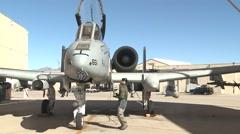 TUCSON USA, JANUARY 2016, US Air Force Close Door A-10 Thunderbolt Aircraft - stock footage
