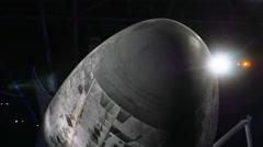 Space Shuttle Atlantis Underneath Side Kennedy Space Center, 4K Stock Footage