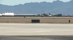 TUCSON USA, JANUARY 2016, US Air Force A-10 Aircraft Roll Start Field Stock Footage