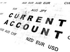 Banking concept: Current Account on Digital background Stock Illustration