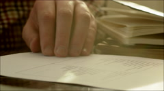 Businessman Signing Two Copies of Contract Stock Footage