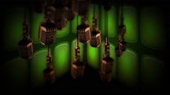 3D Microphone Particle Motion Background Element HD  Stock Footage