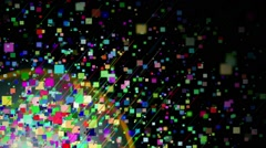 Abstract Colorful Cube Square VJ Loops Motion Background HD Stock Footage