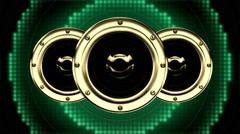 Colorful Pulsating Sub Woofer Music Speaker VJ Loops HD Stock Footage