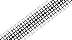 Black & White transition: Diagonal Squares 9 66207 Stock Footage