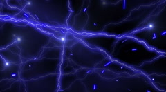 Flashing Blue Electrical Particles VJ Loops Motion Background HD Stock Footage