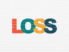 Stock Illustration of Finance concept: Loss on wall background