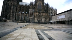 Walk along a street near Cologne Cathedral. Stock Footage