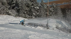 Snow cannon which is in a Swedish ski slope Stock Footage