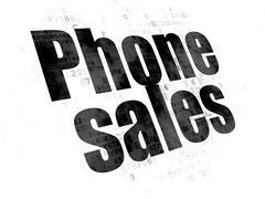 Marketing concept: Phone Sales on Digital background - stock illustration