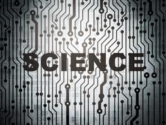 Science concept: circuit board with Science - stock illustration