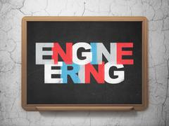 Stock Illustration of Science concept: Engineering on School Board background