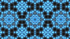 Abstract, Psychedelic & Kaleidoscopic Blue Black Motion Background 4K UHD Stock Footage