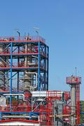 New petrochemical plant construction site Stock Photos
