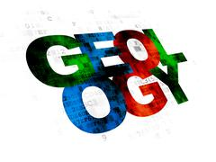 Learning concept: Geology on Digital background Stock Illustration
