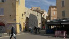 Walking on Quai Jean Jaurès, near the tourist information center, Saint-Tropez Stock Footage