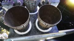 Space Shuttle Atlantis Engines at Kennedy Space Center, 4K - stock footage