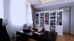 Luxury Apartment Interior. Work room. Stock Footage