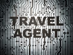 Tourism concept: circuit board with Travel Agent - stock illustration