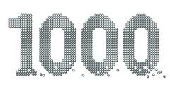 Thousand Exact Counted Iron Balls Number - stock illustration